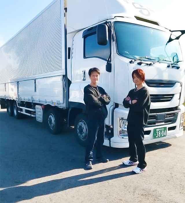 トラックドライバー求人募集(大型・中型・ライトバン)